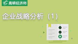 中級經濟師企業戰略分析(1)